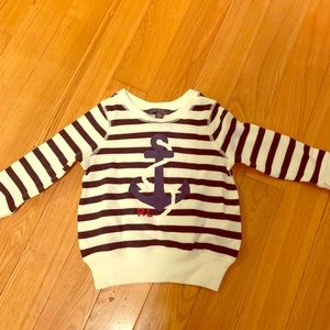 Polo Ralph Lauren Striped Anchor Baby Sweater